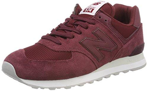 New Balance Herren 574v2 Sneaker, Rot (Burgundy/Burgundy Etd), 42 EU